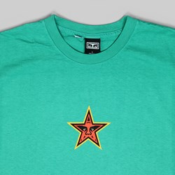OBEY STAR FACE SS T-SHIRT EMERALD