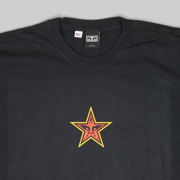 OBEY STAR FACE SS T-SHIRT OFF BLACK