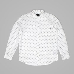 OBEY SYD WOVEN LS SHIRT WHITE MULTI