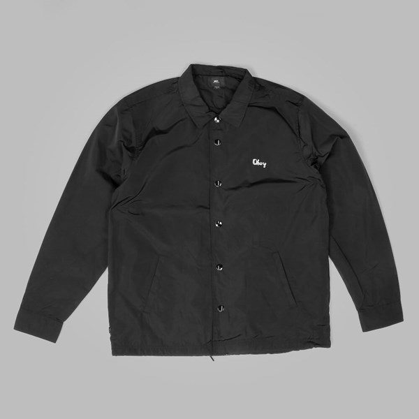 OBEY TITLE COACHES JACKET BLACK