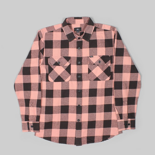 OBEY VEDDER WOVEN LS SHIRT ROSE MULTI