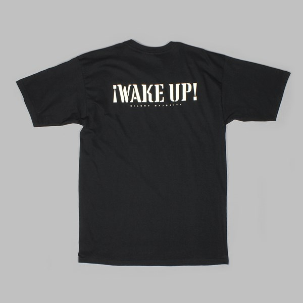 OBEY WAKE UP SILENT MAJORITY TEE BLACK