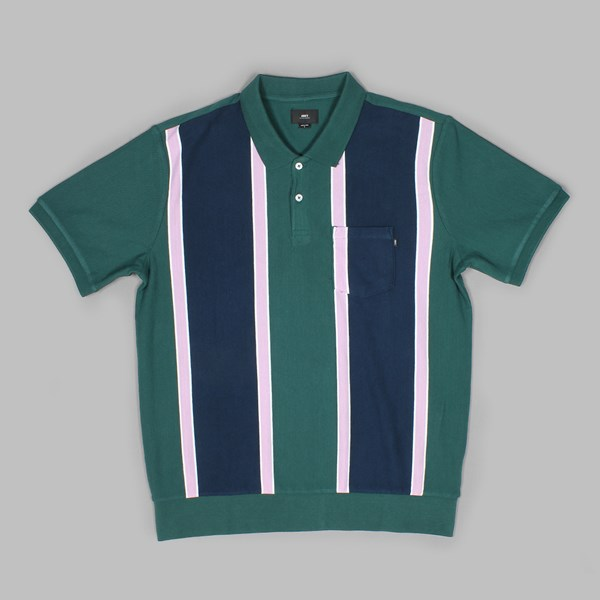 OBEY WATERMARK SS POLO GREEN MULTI