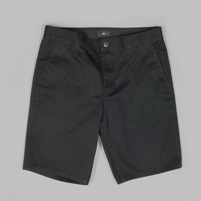 OBEY WORKING MAN TWILL SHORT BLACK
