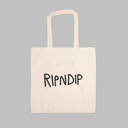 RIP N DIP LORD NERMAL CANVAS TOTE BAG NATURAL