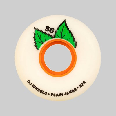 OJ WHEELS SOFT PLAIN JANE KEYFRAME 87A WHITE 56MM