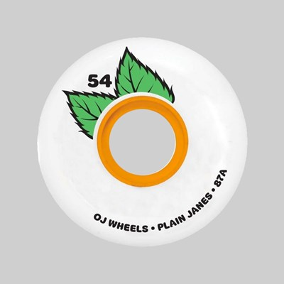 OJ WHEELS SOFT PLAIN JANE KEYFRAME 87A WHITE 54MM