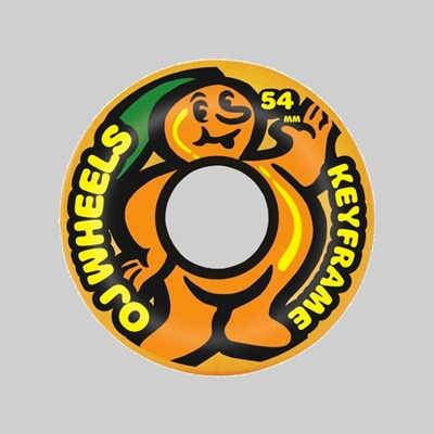 OJ WHEELS SOFT MANGO KEYFRAME 87A ORANGE 54MM
