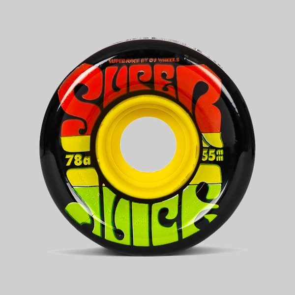 OJ WHEELS SOFT JAMAICA MINI SUPER JUICE 78A BLACK 55MM