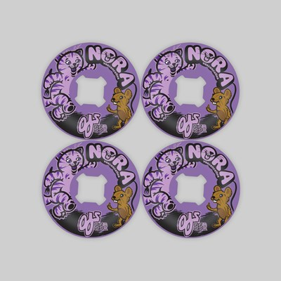 OJ WHEELS VASCONCELLOS CAT & MOUSE 101A PURPLE 55MM