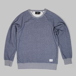 OLOW CREW SWEAT HEATHER NAVY