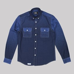 OLOW DETTIFOSS LS SHIRT BLUE GRADATION