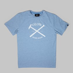OLOW HOME MADE TEE HEATHER BLUE