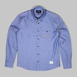 OLOW WAVE LONG SLEEVE SHIRT BLUE