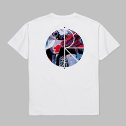 POLAR SKATE CO. ORCHID FILL LOGO SS TEE WHITE