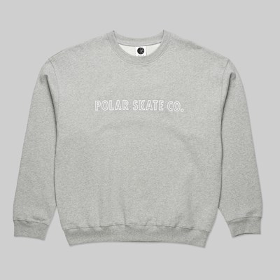 POLAR SKATE CO. OUTLINE CREW HEATHER GREY