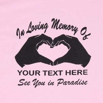 PARADISE NYC IN LOVING MEMORY SS TEE PINK