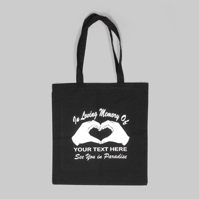 PARADISE NYC IN LOVING MEMORY TOTE BAG BLACK