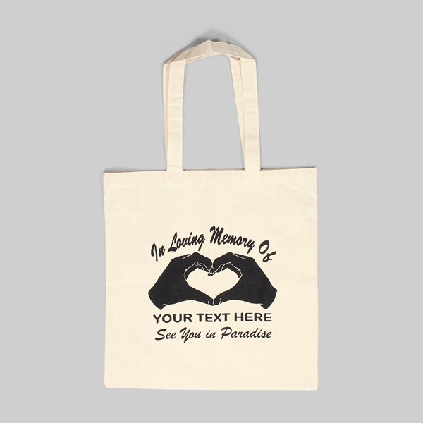 PARADISE NYC IN LOVING MEMORY TOTE BAG NATURAL