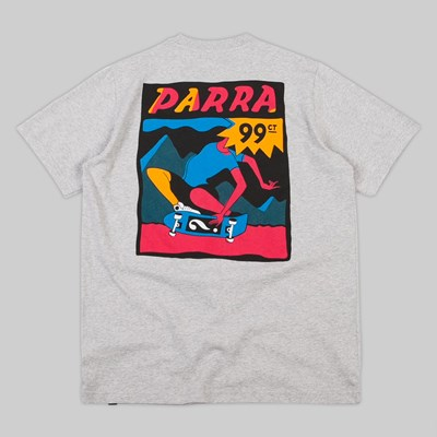 BY PARRA INDY TUCK KNEE SS T-SHIRT ASH GREY