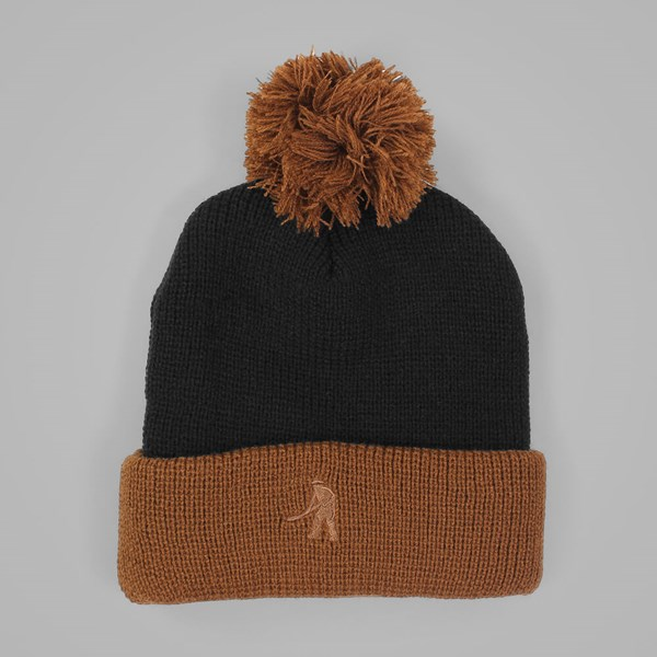 PASSPORT WORKERS BOBBLE BEANIE BLACK