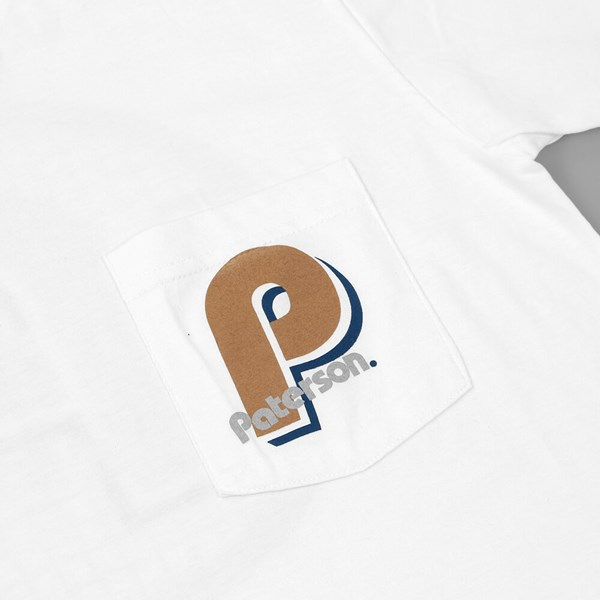 PATERSON LEAGUE ADVANTAGE POCKET TEE WHITE