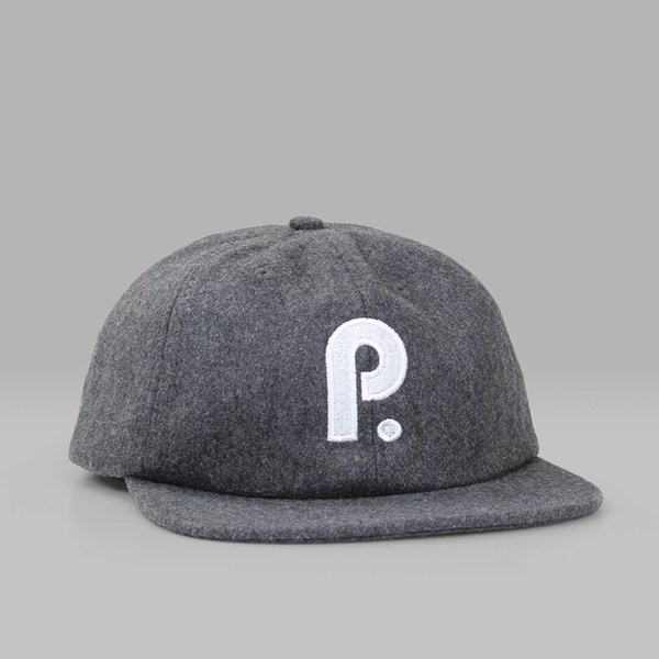 PATERSON LEAGUE BRUSHED WOOL CLUB CAP CHARCOAL