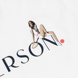 PATERSON LEAGUE PIN UP T-SHIRT WHITE