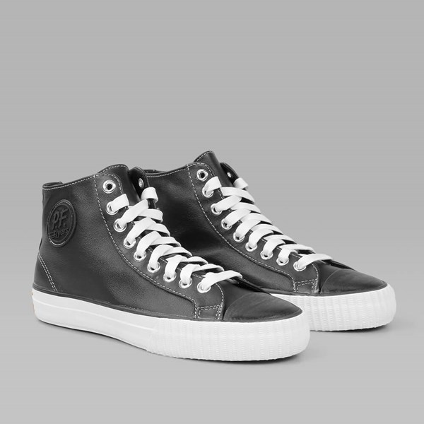 PF FLYERS CENTER HI ATHLETIC LEATHER BLACK