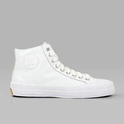 PF FLYERS CENTER HI ATHLETIC LEATHER WHITE