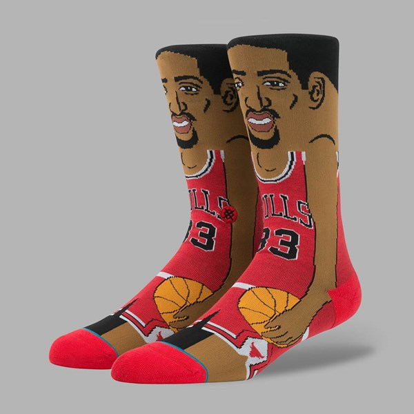 STANCE NBA LEGENDS S.PIPPEN SOCKS RED