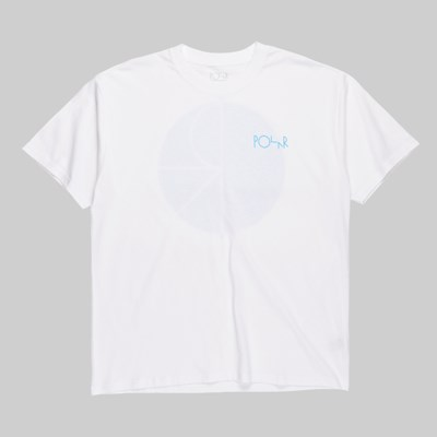 POLAR SKATE CO. FILL LOGO SS T-SHIRT WHITE POOL BLUE