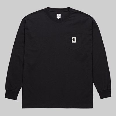 POLAR SKATE CO. POCKET LONGSLEEVE TEE BLACK