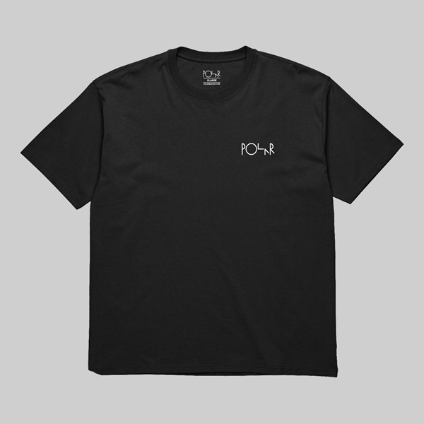 POLAR SKATE CO. STROKE LOGO SS T-SHIRT BLACK WHITE