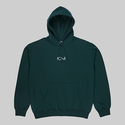 POLAR SKATE CO. STROKE LOGO HOOD DARK TEAL