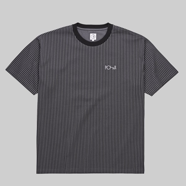 POLAR SKATE CO. VERTICAL STRIPE TEE BLACK