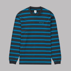POLAR SKATE CO. 91 LONG SLEEVE TEE GRAPHITE