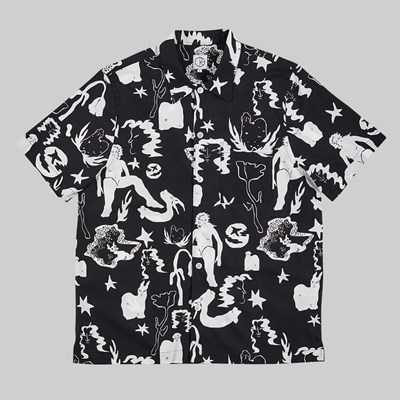 POLAR SKATE CO. EAST DREAM SHIRT BLACK WHITE
