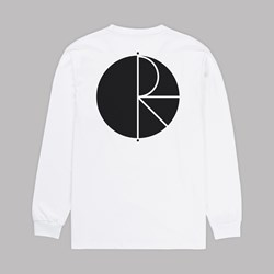 POLAR SKATE CO. FILL LOGO LS TEE WHITE BLACK
