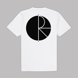 POLAR SKATE CO. FILL LOGO SS TEE WHITE BLACK