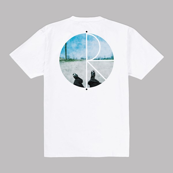 POLAR SKATE CO. HAPPY SAD FILL LOGO TEE WHITE