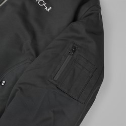 POLAR SKATE CO. BOMBER JACKET BLACK
