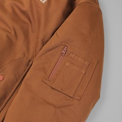 POLAR SKATE CO. BOMBER JACKET BRONZE