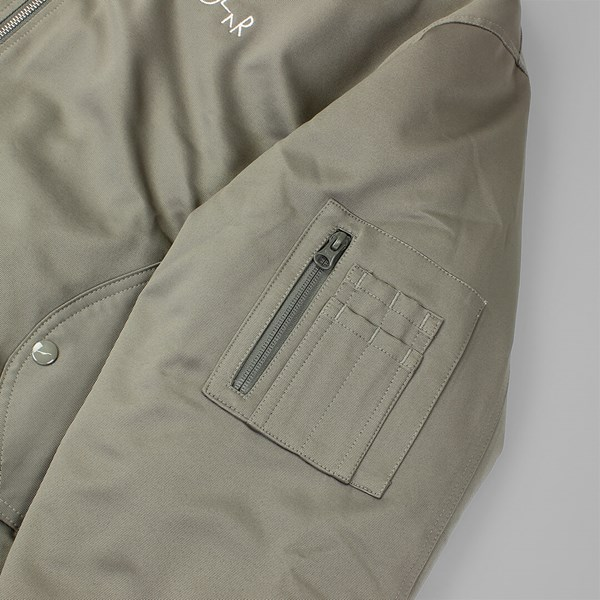 POLAR SKATE CO. BOMBER JACKET OLIVE