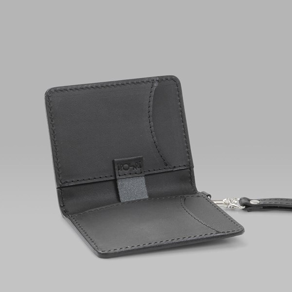 POLAR SKATE CO. CARD WALLET LEATHER BLACK