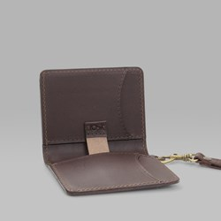 POLAR SKATE CO. CARD WALLET LEATHER BROWN