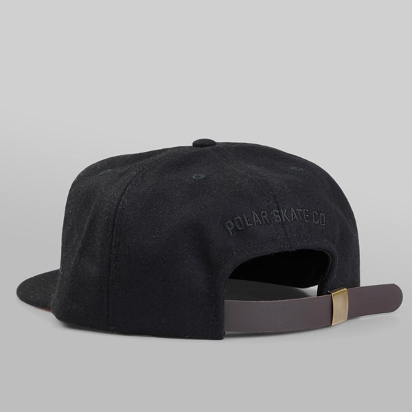 POLAR SKATE CO. GROUND CREW WOOL CAP BLACK