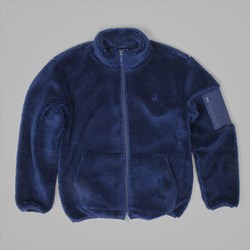 POLAR SKATE CO. HALBERG BERBER FLEECE JACKET RICH NAVY