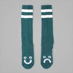POLAR SKATE CO. HAPPY SAD SOCKS DARK GREEN