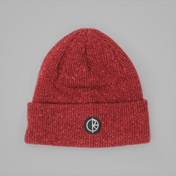 POLAR SKATE CO. HARBOUR BEANIE DARK RED